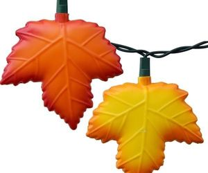 Autumn leaf Sting lights - Thanksgiving party lights - Red & Gold Maple leaf, an item from the 'Autumn Spirit' hand-picked list