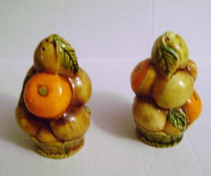 VINTAGE CERAMIC INARCO  TOPIARY SALT & PEPPER SHAKERS, an item from the 'Fall Table Decor' hand-picked list