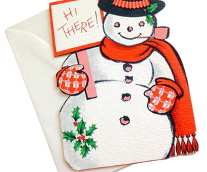 Vintage Frosty The Snowman Ambassador Christmas Greeting Card Die Hi There Card, an item from the 'Santas & Snowmen' hand-picked list
