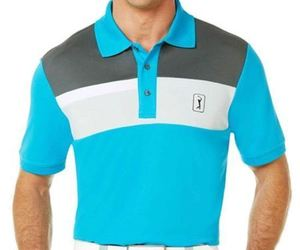 PGA TOUR Pro Series Linear Block Chest Polo Sizes S, L, XL New Msrp $60.00, an item from the 'Golf Essentials' hand-picked list