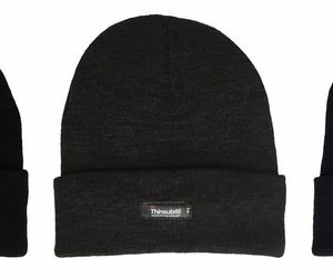 Thinsulate - Boys Kids Warm Thermal Fleece Insulated Knit Cuff Beanie Winter Hat, an item from the 'Kids Hats, Mittens, and Scarves' hand-picked list