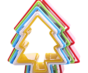 (tree)1 Set(6Pcs) Christmas Tree Cookies Cutter Biscuit Frame Cake Mould DIY S, an item from the 'Holiday Cookies & Cooking' hand-picked list