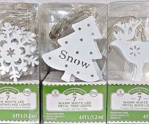 Led Lights String Holiday Time  Metal Battery 4 Ft Deer Snowflake Tree 3 Sets, an item from the 'It's the Holiday Season' hand-picked list