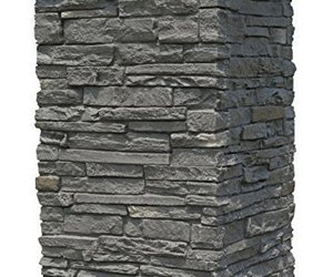 "NextStone Slatestone 16"" x 16"" x 30"" Faux Polyurethane Stone Column Wrap - Rundl, an item from the 'No Place Like Home' hand-picked list"