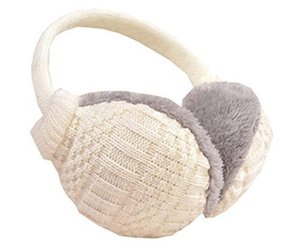 Unisex Knit EarMuffs Ear Warmers Winter Accessory Outdoor Earmuffs, White, an item from the 'Fuzzy Feels' hand-picked list