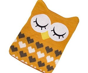 1L Hot Water Bottle Classic Premium Hot Rubber Bag with Soft Cover, Owl, A5, an item from the 'Owl Aboard!' hand-picked list