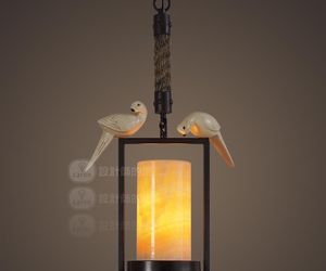 Vintage Bird Marble Pendant Light Ceiling Lamp Home Cafe Decor Lighting Fixture, an item from the 'Let There Be Light!' hand-picked list