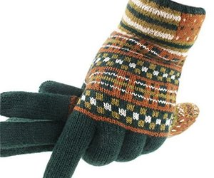 Green Autumn And Winter Man Lengthened Warm Knitted Wool Fluff Gloves, an item from the 'Autumn Spirit' hand-picked list