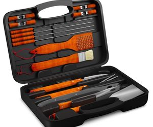 BBQ Grill Tools Set with 18 Barbecue Accessories - Stainless Steel Utensils With, an item from the 'Father's Day Finds' hand-picked list