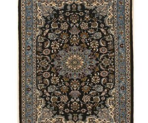 EORC X36037 Hand-knotted Wool Esfahan Rug, 2'5 x 3'2, Blue, an item from the 'A Hue of my Favorite Things' hand-picked list