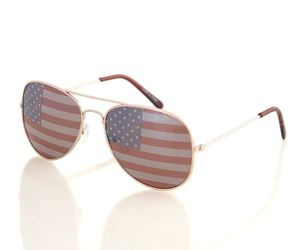 Shaderz USA America Aviator Sunglasses - Great Accesory for 4th of July - Gold C, an item from the 'Flag Focused' hand-picked list
