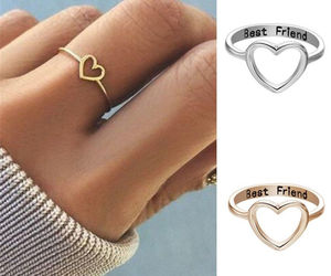 [Jewelry] Best Friend Heart Ring for Friendship Gift, an item from the 'Tokens of Friendship' hand-picked list