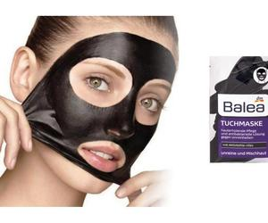Balea Black Cloth Face Mask with activated carbon fleece,zinc & bamboo,Vegan, an item from the 'Girls Night In' hand-picked list
