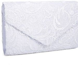 Clocolor Women's Elegant Floral Lace Envelope Clutch Evening Prom Handbag Purse, an item from the 'Cute Clutches' hand-picked list