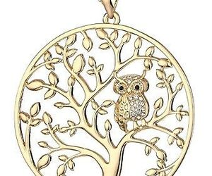 HONGYE Gold Plated And Silver Plated The Owl On The Tree Of Life Round Pendant, an item from the 'Owl wear that' hand-picked list