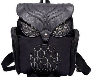 Donalworld Women Backpack PU Leather Cool Owl School Bag Backpacks Black, an item from the 'Owl Aboard!' hand-picked list
