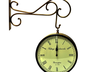 Vintage Clock Double Side (Railway Style) Clock 10 Inches, an item from the 'Time to Think of Those New Year Resolutions' hand-picked list
