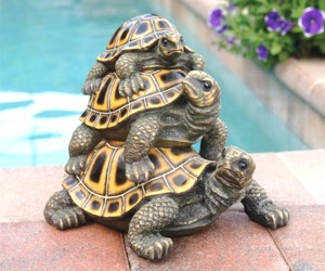 "Three's a Crowd Stacked Turtle Statue, an item from the 'ڰۣڿ☸""YOU`RE A SLOW BOKE"".ڰۣڿ☸' hand-picked list"