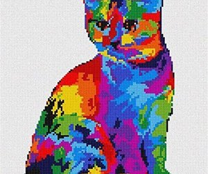 Painted Cat Needlepoint Canvas, an item from the 'Add a POP of COLOR to your room' hand-picked list