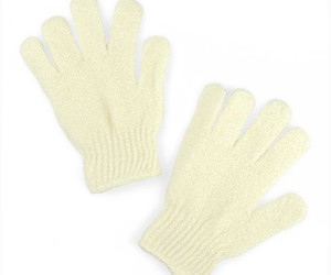 Urban Spa Exfoliating Gloves - Cream, an item from the 'Self Care' hand-picked list