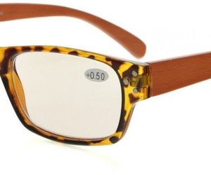 Eyekepper Spring Hinges Wood Arms Computer Reading Glasses Men Women Amber, an item from the 'Vision with Style' hand-picked list