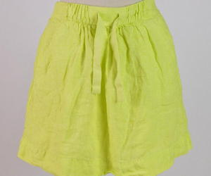 J.Crew Highlighter Neon Yellow Linen Drawstring Knee Length Skirt Pencil Size 00, an item from the 'Fearless & Fashion Forward' hand-picked list