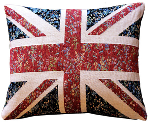 Pillow Decor - United Kingdom Flag Tapestry Throw Pillow 15x19, an item from the 'Throw Pillows' hand-picked list