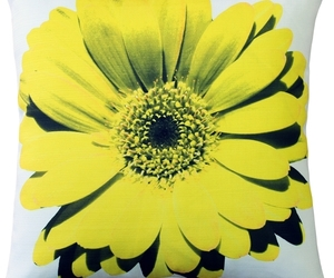 Pillow Decor - Bold Daisy Flower Yellow Throw Pillow 20X20, an item from the 'Throw Pillows' hand-picked list