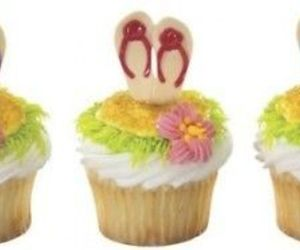 Summer Flip Flop Cupcake Picks ~ 24 Pcs By Hallmark, an item from the 'Summer Party' hand-picked list