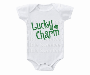 St. Patricks Day Onesie Lucky Charm Shirt, an item from the 'St. Patrick's Day' hand-picked list