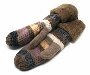 J Fashion Accessories Women's Knitted Winter Mittens, Taupe (One Size), an item from the 'Fuzzy Feels' hand-picked list