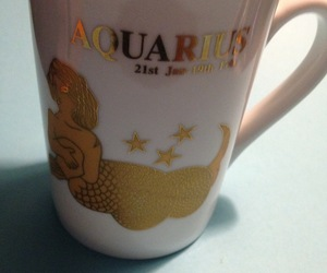 AQUARIUS Zodiac Vintage 24K Gilt Gold Porcelain MUG - Jan 21 to Feb 19, an item from the 'AQUARIUS' hand-picked list