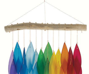 Rainbow & Driftwood Windchime, an item from the 'Cool Stuff' hand-picked list