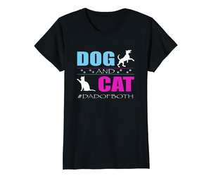 Dog Fashion - Dog And Cat I Am A Dad Of Both Funny DadOfBoth TShirt Wowen, an item from the 'Dog and Cat Lovers' hand-picked list