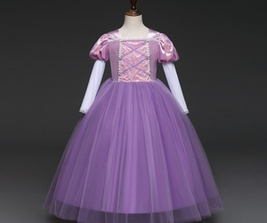 Purple Flower Girl Dress Cosplay Kids Princess Prom Gowns For Age 3-8 Years Old, an item from the 'Girls Formal Occasion' hand-picked list