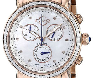 GV2 by Gevril Marsala 9800 ROSE GOLD Chronograph Diamond WATCH w/ Xtra Strap NIB, an item from the 'Watches for Her ' hand-picked list