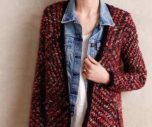 NWT ANTHROPOLOGIE KEAVY JACQUARD RED JACKET CARDIGAN SWEATER by MOTH XS, an item from the 'Fuzzy Feels' hand-picked list