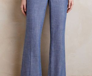 NWT LEVEL 99 NEWPORT CHAMBRAY FLARED WIDE-LEG TROUSER JEANS 28 , an item from the 'Free Fall-ing' hand-picked list
