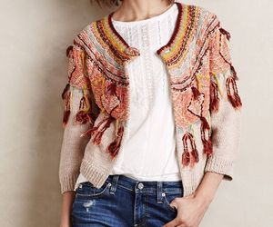 NWT ANTHROPOLOGIE GUAJAVA FRINGED CARDIGAN SWEATER by MOTH M, an item from the 'Fuzzy Feels' hand-picked list