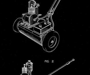 1949 - Lawn Mower - W. J. Muller - Patent Art Poster, an item from the 'Father's Day Finds' hand-picked list