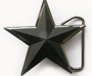 Double Layer Matter Black 3D Star Belt Buckle Gurtelschnalle Boucle de ceinture, an item from the 'Rockstars' hand-picked list