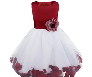 Flower Girls Dress Bridesmaid Flower Petals Formal Dress In 15 Colors, an item from the 'Girls Formal Occasion' hand-picked list