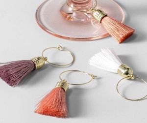 New Target Opalhouse Tassel Wine Charms Boho Pink Coral Set Of 8, an item from the 'Boho Mom' hand-picked list