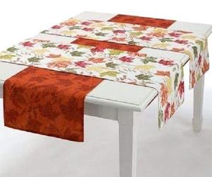Fall Thanksgiving Autumn Maple Leaves Reversible Table Runner Set (3), an item from the 'Thanksgiving Table Decorations' hand-picked list