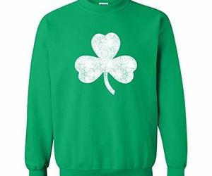 UGP Campus Apparel Lucky Clover Shamrock Distressed ST Patricks Day Crewneck Swe, an item from the 'St. Patrick's Day' hand-picked list