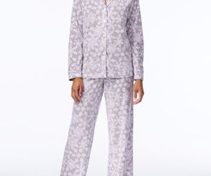 Charter Club Snow Flake Printed Fleece Pajama Set, XXXL, an item from the 'Girls Night In' hand-picked list