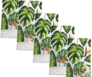 """5 pc SAME KITCHEN TOWELS SET, 15"""" x 25"""", LARGE GREEN LEAVES by KC, an item from the 'Leaf It Be' hand-picked list"""