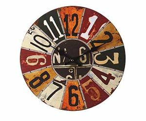 PANDA SUPERSTORE Retro Nostalgia Wooden Dial Wall Clock Vintage Look Home Decora, an item from the 'It's TIME to Spring Forward' hand-picked list