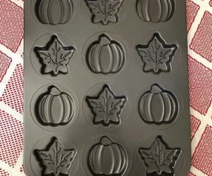 Wilton Cookie baking Mold Sheet Pan Fall Shapes Leaves Pumpkins Nonstick, an item from the 'Fall Must Haves' hand-picked list