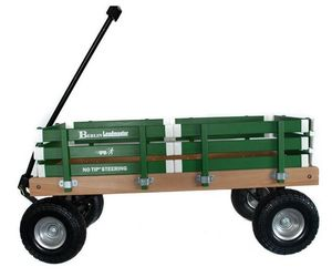 HEAVY DUTY LOADMASTER GREEN WAGON - Beach Garden Utility Cart AMISH MADE in USA, an item from the 'Garden Tools' hand-picked list
